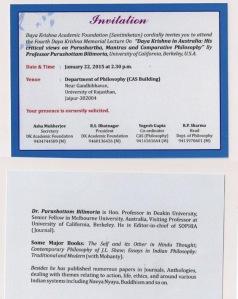 DKML- Invitation Bilimoria
