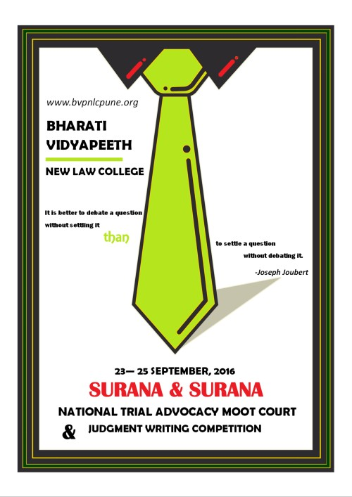 Sutrana and surana national trial advocacy moot court and judgment invitation letter to law schools for participation surana trial advocacy moot 2016national trial advocacy moot 2016 casenational trial advocacy moot stopboris Gallery