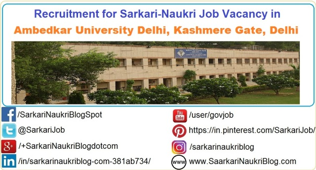 Naukri-Vacancy-Recruitment-Ambedkar-University-Delhi