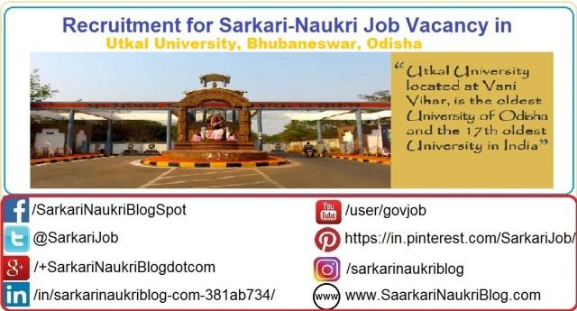 Naukri-Vacancy-Recruitment-Utkal-University-Bhubaneswar