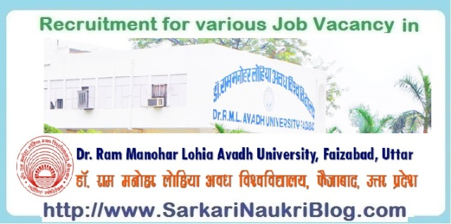 Naukri-Vacancy-Recruitment-RMLAU-Faizabad